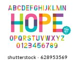 vector of modern colorful font... | Shutterstock .eps vector #628953569