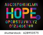 Vector Of Modern Colorful Font...