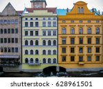 A Line Of Buildings Along An...