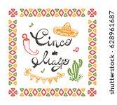 mexico. mexican holiday. cinco... | Shutterstock .eps vector #628961687