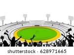 illustration of stadium of... | Shutterstock .eps vector #628971665