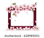dark red rectangular frame for... | Shutterstock .eps vector #628985051