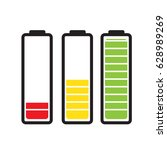 batteries with different level   Shutterstock .eps vector #628989269