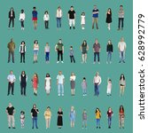 diversity people set gesture... | Shutterstock . vector #628992779