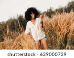 african american young woman...   Shutterstock . vector #629000729