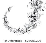 white musical background with... | Shutterstock .eps vector #629001209