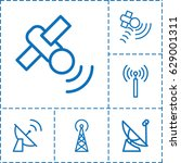 transmission icon. set of 6... | Shutterstock .eps vector #629001311
