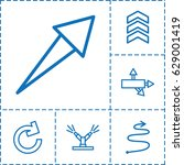 arrows icon. set of 6 arrows...