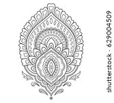 mehndi flower pattern for henna ... | Shutterstock .eps vector #629004509