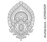 henna tattoo flower template in ...   Shutterstock .eps vector #629004509