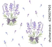 seamless vector pattern with... | Shutterstock .eps vector #629007905