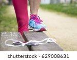 athlete preparing to run for... | Shutterstock . vector #629008631