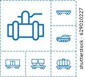 tank icon. set of 6 tank...   Shutterstock .eps vector #629010227