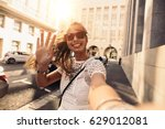 Tourist Posing For A Selfie In...