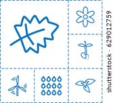 eco icon. set of 6 eco outline... | Shutterstock .eps vector #629012759