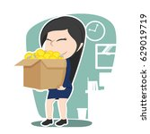 chinese businesswoman carrying...   Shutterstock . vector #629019719