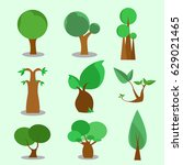 tree vector | Shutterstock .eps vector #629021465