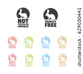 animal cruelty free symbol. can ... | Shutterstock .eps vector #629030441