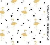 flamingo gold silhouette ...   Shutterstock .eps vector #629039507