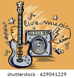 Guitar And Amplifier Live Musi...