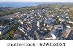 vue a rienne village de sarzeau ... | Shutterstock . vector #629053031