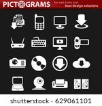 computer vector icons for user... | Shutterstock .eps vector #629061101