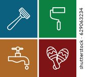 handle icons set. set of 4... | Shutterstock .eps vector #629063234