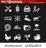 agriculture vector icons for... | Shutterstock .eps vector #629063855