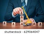 human resources build team ...   Shutterstock . vector #629064047