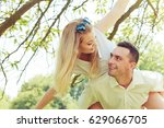 love  romantic walks concept.... | Shutterstock . vector #629066705