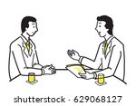 businessman discussing ... | Shutterstock .eps vector #629068127