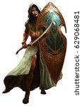 Elf Warrior 3d Illustration