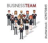 team of business people on... | Shutterstock .eps vector #629070845