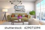 interior living room. 3d... | Shutterstock . vector #629071094