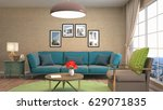 interior living room. 3d... | Shutterstock . vector #629071835