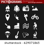 active recreation vector icons... | Shutterstock .eps vector #629071865