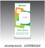 creative template roll banner... | Shutterstock .eps vector #629080364