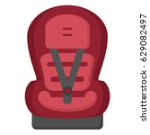 child car seat 1 icon. front... | Shutterstock .eps vector #629082497