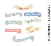 mother's day pastel element set.... | Shutterstock .eps vector #629083817