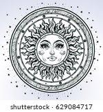 vintage elegant hand draw work... | Shutterstock .eps vector #629084717