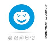 halloween pumpkin sign icon.... | Shutterstock .eps vector #629086919