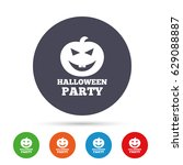 halloween pumpkin sign icon.... | Shutterstock .eps vector #629088887
