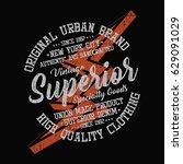 new york city vintage denim ...   Shutterstock .eps vector #629091029