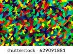 light multicolor  rainbow... | Shutterstock .eps vector #629091881