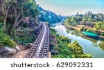 tham krasae railway landmark of ... | Shutterstock . vector #629092331