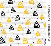 doodle seamless pattern... | Shutterstock .eps vector #629096579