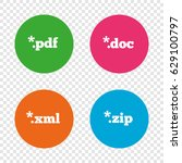 document icons. file extensions ... | Shutterstock .eps vector #629100797