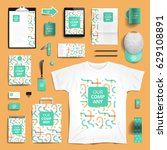corporate identity stationery... | Shutterstock .eps vector #629108891
