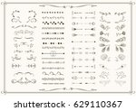 big set of elements for wedding ... | Shutterstock .eps vector #629110367