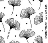 floral seamless pattern with... | Shutterstock .eps vector #629126135